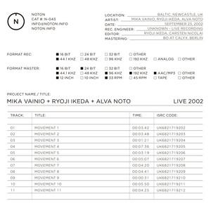 Live 2002 Albümü