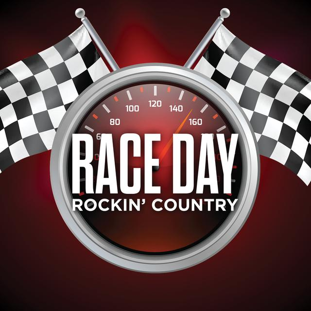 Various Artists Race Day Rockin' Country album cover