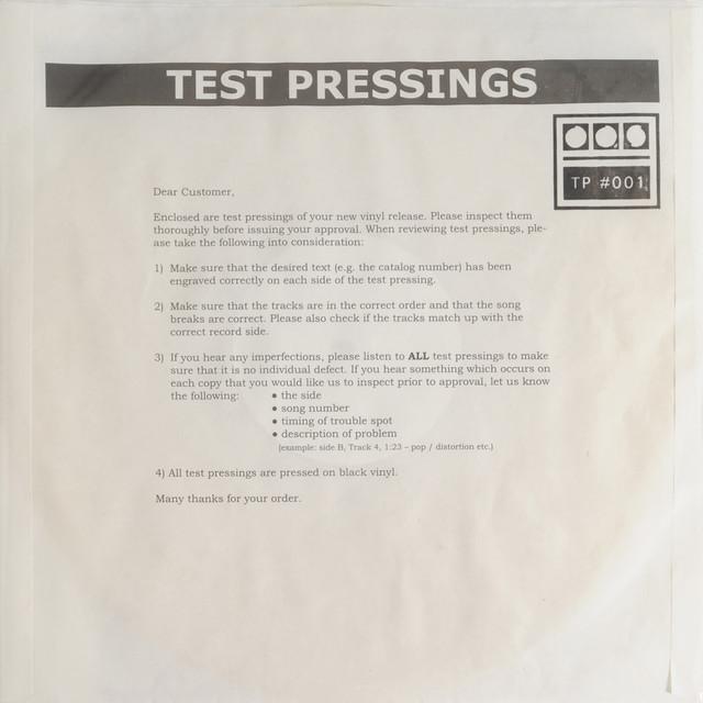 Testpressing#001