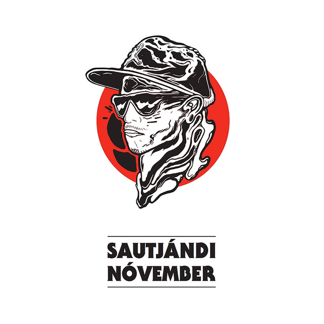 Album cover for Sautjándi nóvember by Emmsjé Gauti