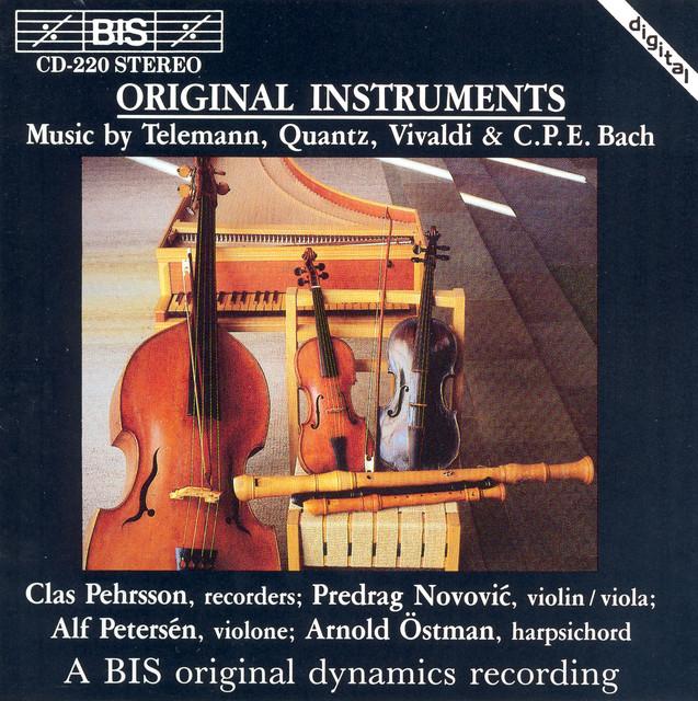 Telemann / Quantz / Vivaldi / Bach, C.P.E.: Chamber Music for Recorder Albumcover