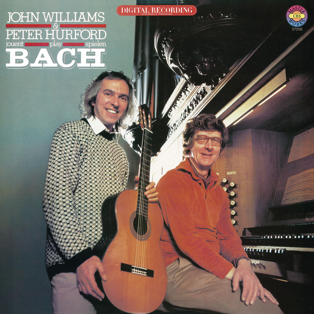 John Williams and Peter Hurford Play Bach Albumcover