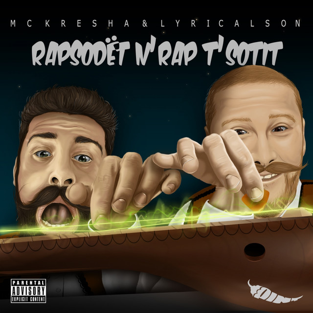 Album cover for Rapsodët n'Rap t'Sotit by Mc Kresha, Lyrical Son