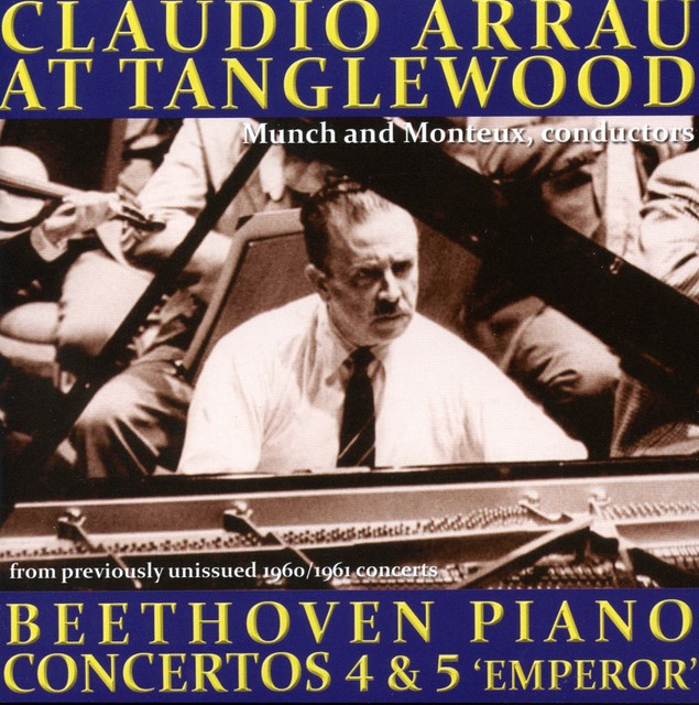 Claudio Arrau plays Beethoven Piano Concertos Albumcover