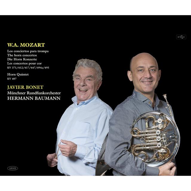 Mozart:The horn concertos K. 371/412/417/447/494a/495 - Horn Quintet K. 407 Albumcover