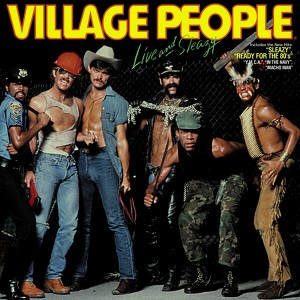 Village People Live and Sleazy (Original Live Album 1980) Albumcover