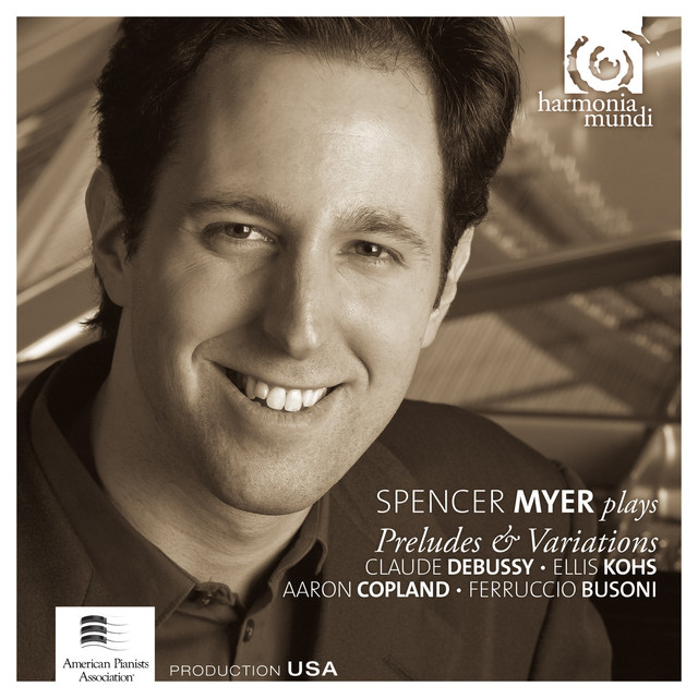 Spencer Myer Plays Preludes & Variations Albumcover