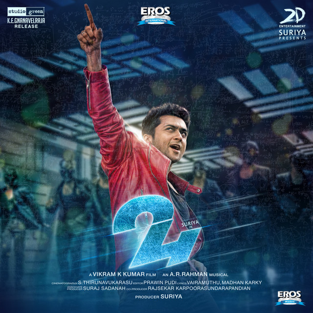 Album cover for 24 (Tamil) (Original Motion Picture Soundtrack) by A.R. Rahman