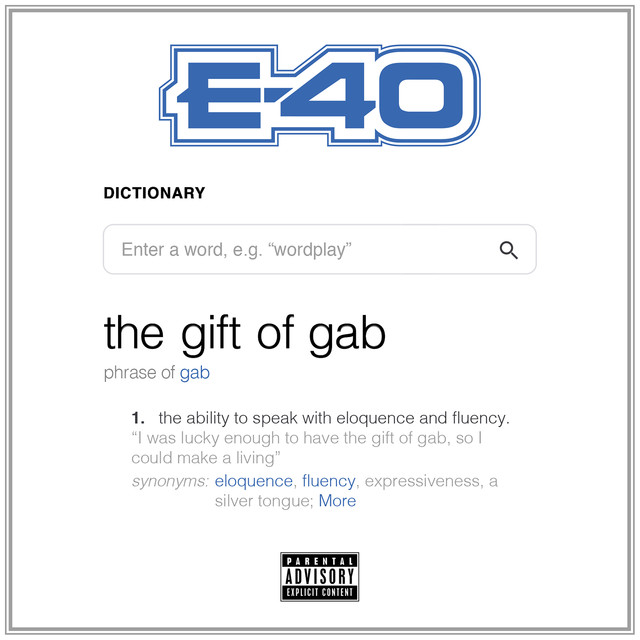 Album cover for The Gift Of Gab by E-40