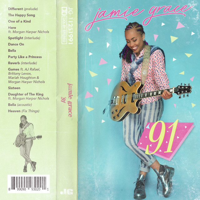 Album cover for '91 by Jamie Grace