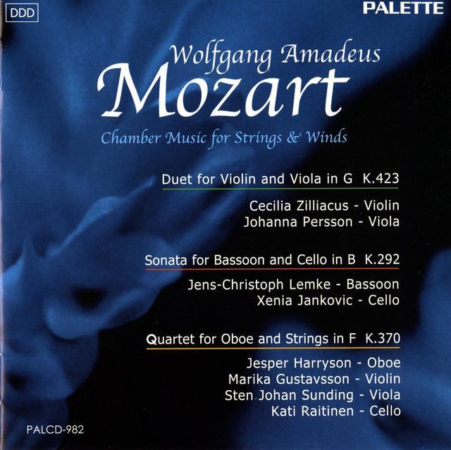 Mozart: Duo for Violin and Viola - Sonata for Bassoon and Cello - Oboe Quartet in F major Albumcover