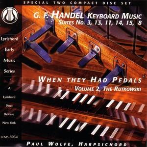 George Frederick Handel: Keyboard Suites Albumcover