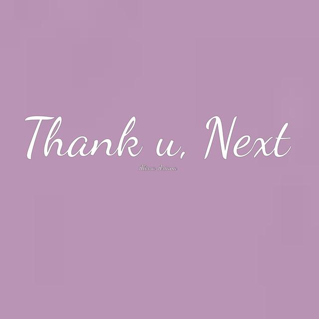 Thank U Next Descargar Gratis: Thank U, Next By Alissa Ariana On Spotify
