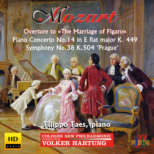 Mozart: Overture to The Marriage of Figaro, Piano Concerto No. 14 & Symphony No. 38 Albümü