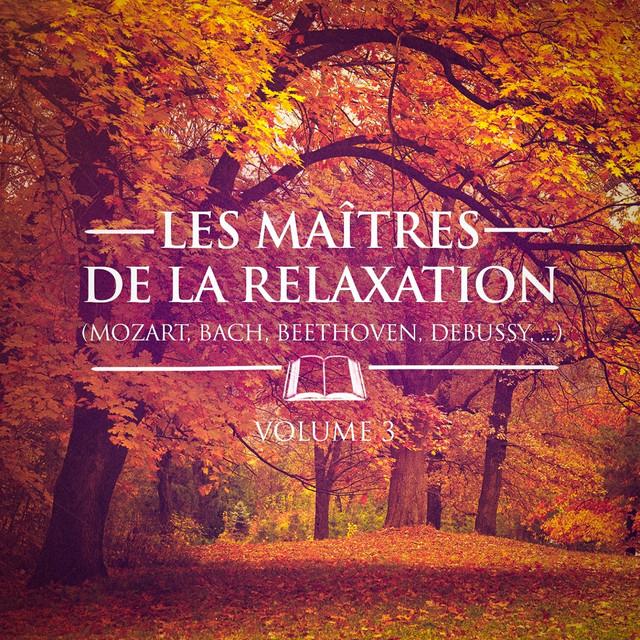 Les maîtres de la relaxation, Vol. 3 (Mozart, Beethoven, Bach, Tchaïkovski, Satie et Debussy) Albumcover