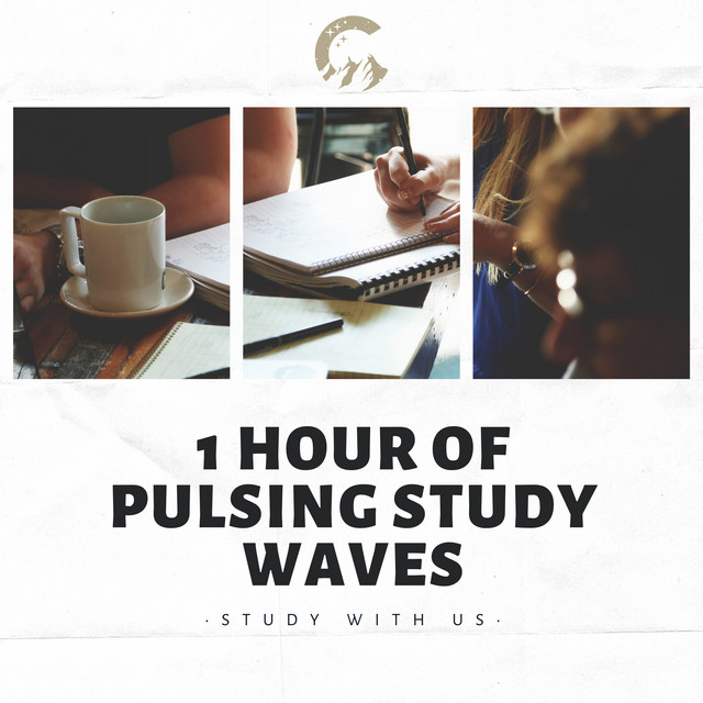 Album cover for 1 Hour of Pulsing Study Waves by Study With Us, Study Music & Sounds