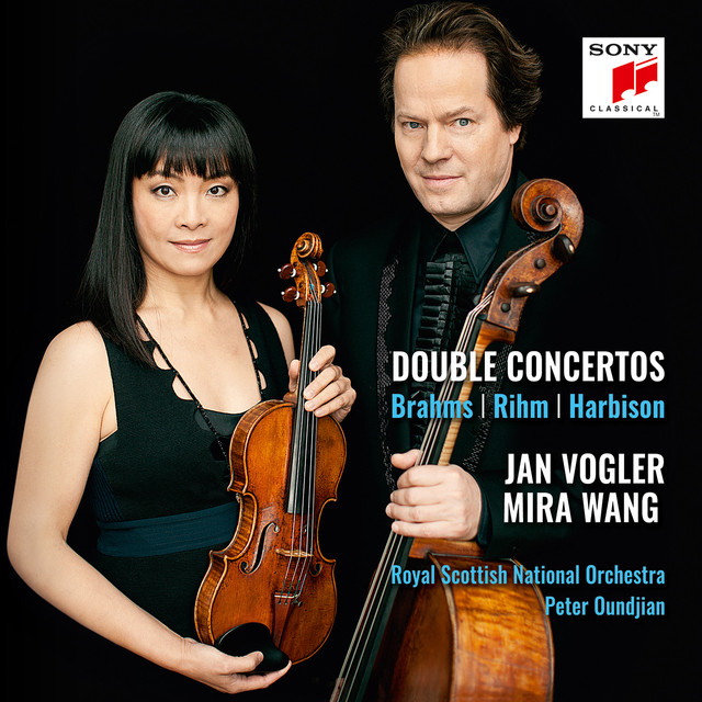 Album cover for Brahms, Rihm, Harbison: Double Concertos by Jan Vogler, Peter Oundjian