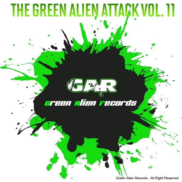 Album cover for The Green Alien Attack, Vol. 11 by Various Artists
