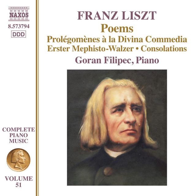 Album cover for Liszt: Poems by Franz Liszt, Goran Filipec