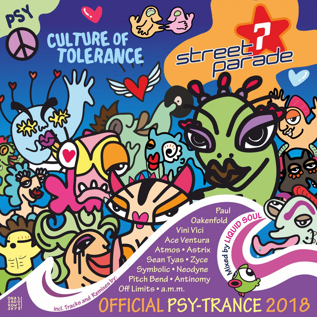 Album cover for Street Parade 2018 Official Psy-Trance (Mixed by Liquid Soul) [Culture of Tolerance] by Liquid Soul