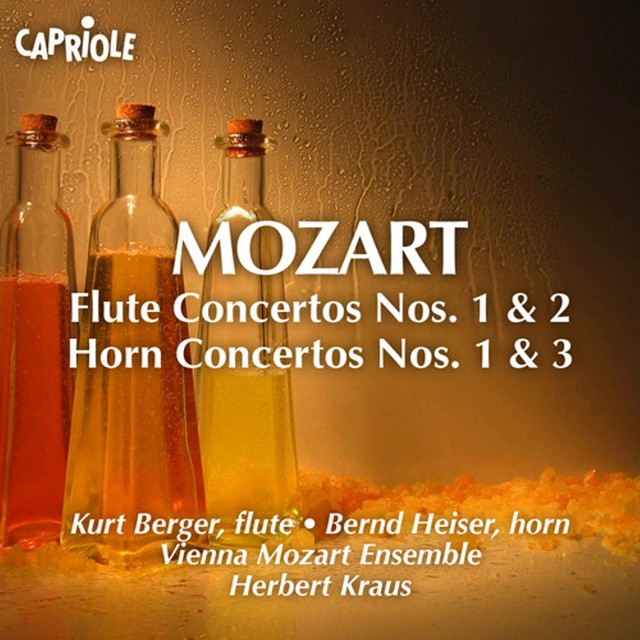 Mozart, W.A.: Flute Concertos Nos. 1, 2 / Horn Concertos Nos. 1, 3 Albumcover