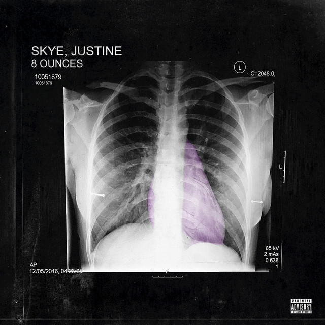 Album cover for 8 Ounces by Justine Skye
