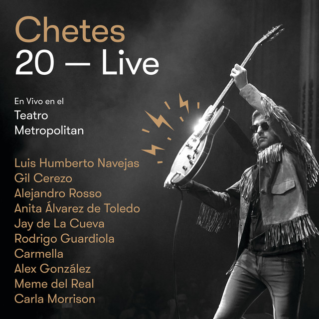 Album cover for Chetes 20 Live by Chetes