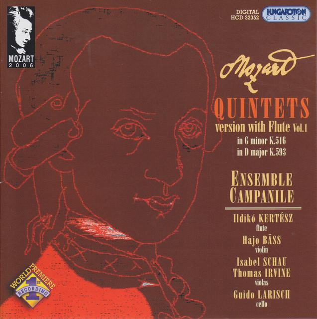 Mozart: Flute Quintets, Vol. 1 Albumcover