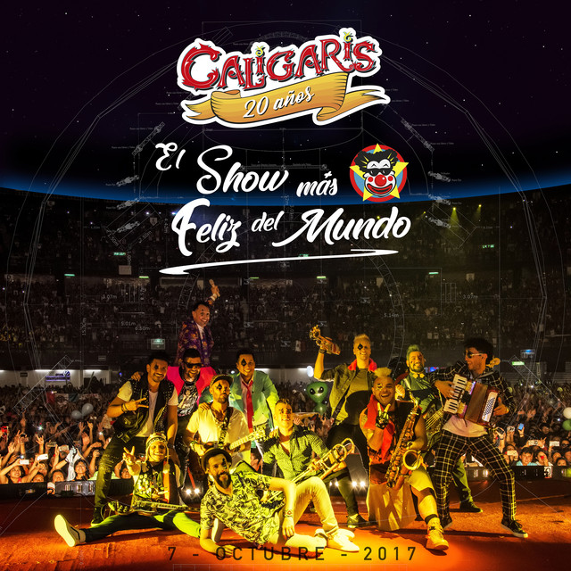 Album cover for 20 Años: El Show Más Feliz del Mundo (En Vivo) by Los Caligaris