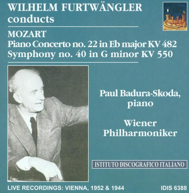 Mozart, W.A.: Piano Concerto No. 22 / Symphony No. 40 (Badura-Skoda, Vienna Philharmonic, Furtwangler) (1944, 1952) Albumcover