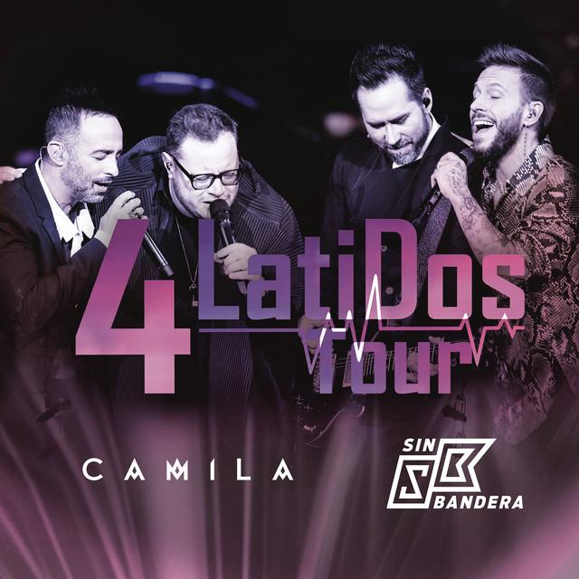 Album cover for 4 Latidos Tour - En Vivo by Camila, Sin Bandera