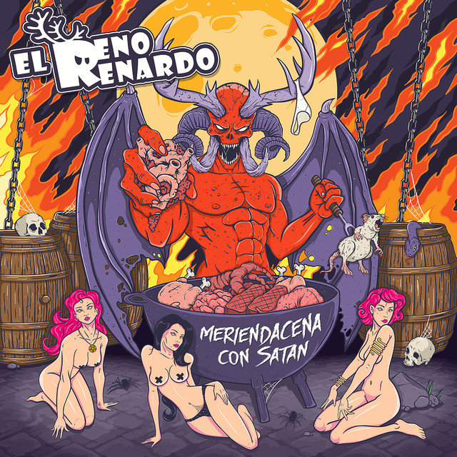 Album cover for Meriendacena Con Satán by El Reno Renardo