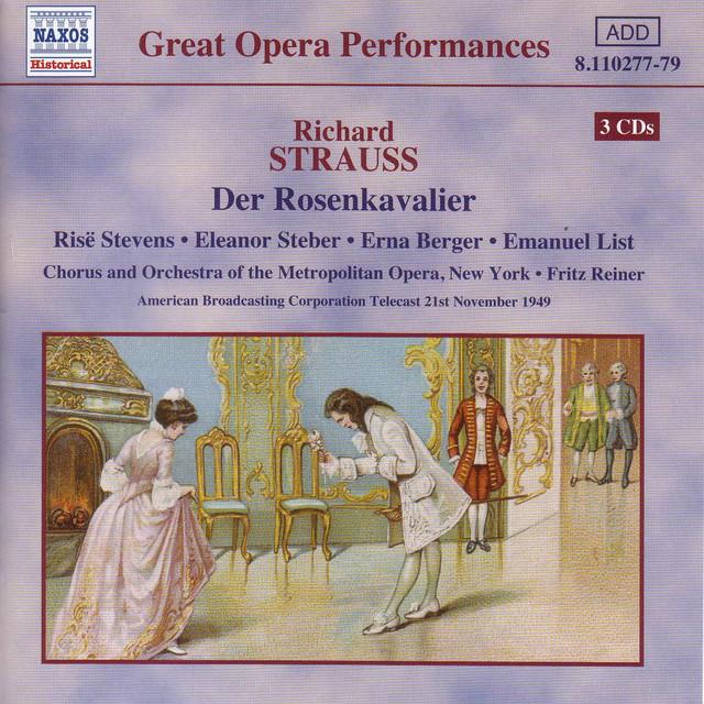 Strauss, R.: Rosenkavalier (Der) (Stevens, Steber / Metropolitan Opera / Reiner) (1949) Albumcover