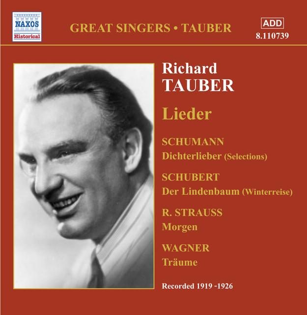 Tauber, Richard: Lieder (1919-1926) Albumcover