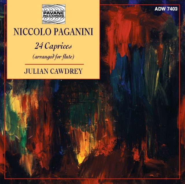 Paganini: 24 Caprices (Arranged for Flute by Julian Cawdrey) Albumcover
