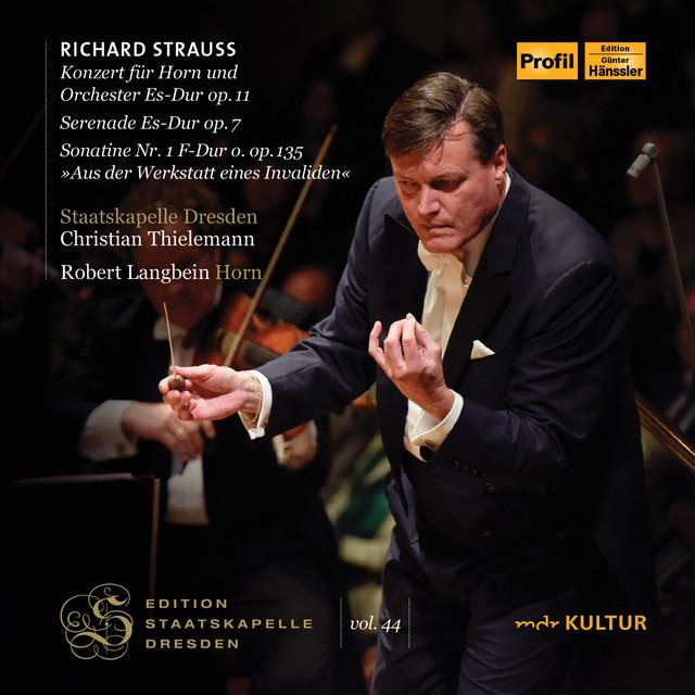 Album cover for Richard Strauss (Live) by Richard Strauss, Staatskapelle Dresden, Christian Thielemann