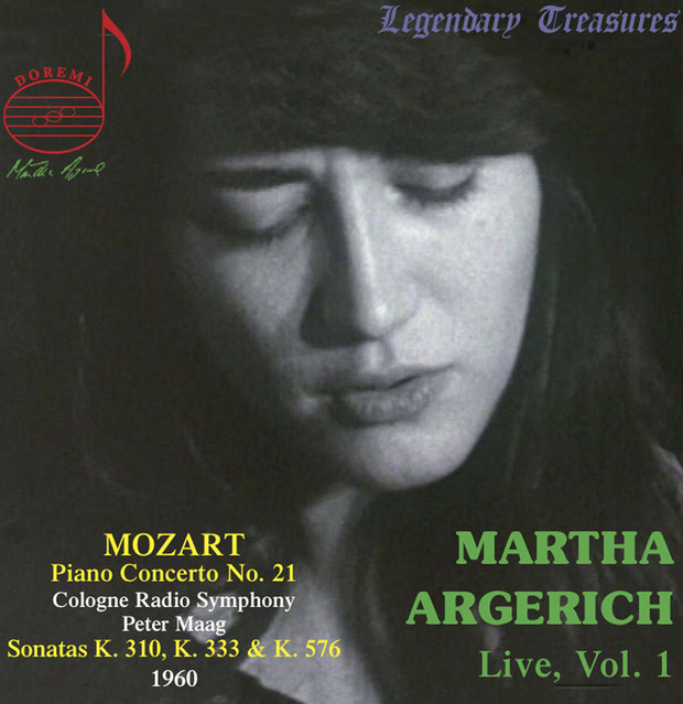 Album cover for Martha Argerich Live, Vol. 1 by Wolfgang Amadeus Mozart, Martha Argerich