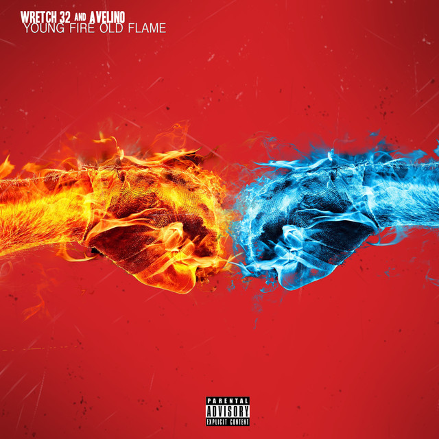 Album cover for Young Fire, Old Flame by Wretch 32, Avelino