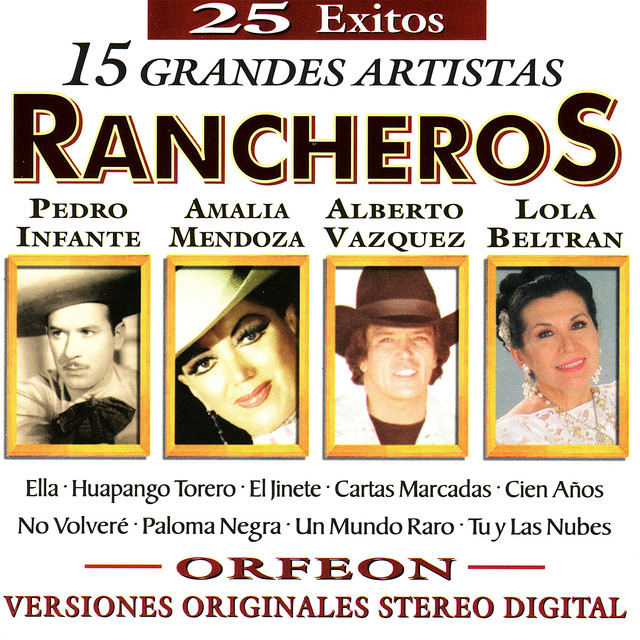 Various Artists 25 Exitos - 15 Grandes Artistas - Rancheros album cover