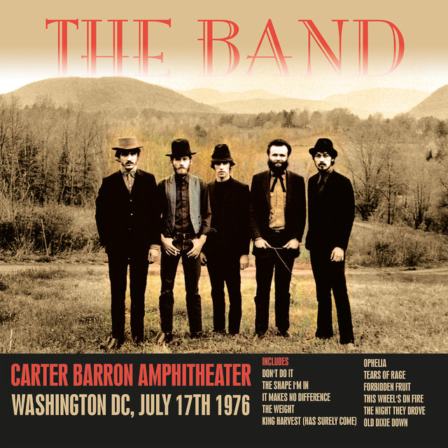 Carter Baron Amphitheater, Washington DC, July 17th 1976