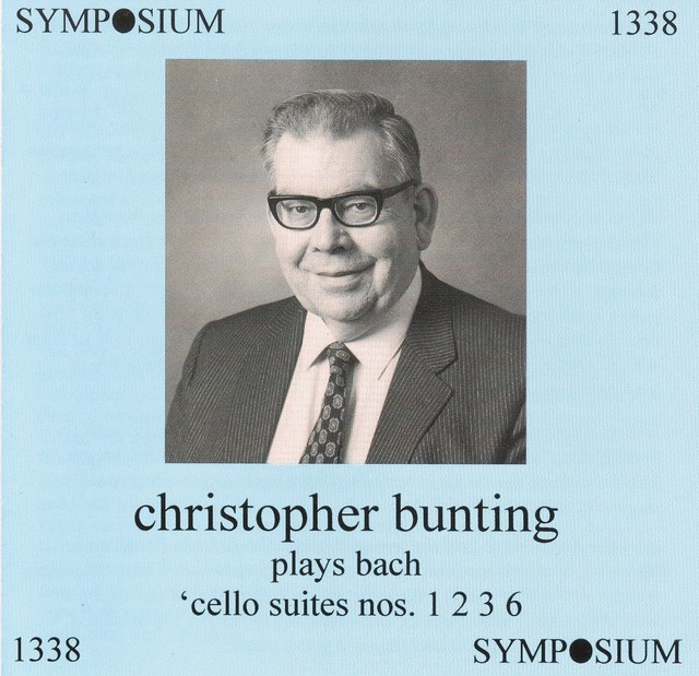 Christopher Bunting plays Cello Suites Nos. 1, 2, 3 and 6 (1960s) Albumcover