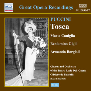 Puccini: Tosca (Gigli, Caniglia) (1938) Albumcover