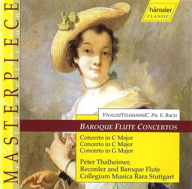 Vivaldi / Telemann / Bach, C.P.E.: Baroque Flute Concertos Albumcover
