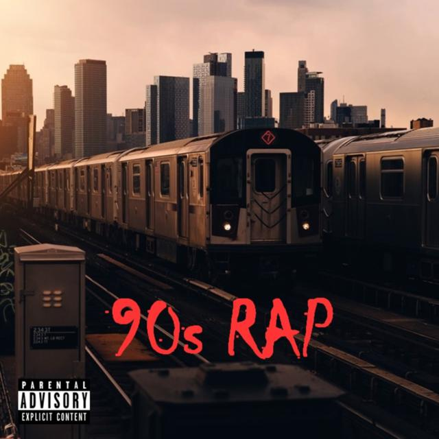 Album cover for 90s Rap by Various Artists