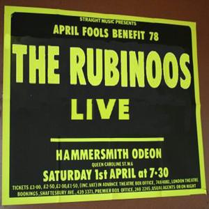 The Rubinoos Live At Hammersmith Odeon album