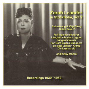Icons of German Cinema: Zarah Leander in Stockholm, Vol. 2 (1930-1952) album