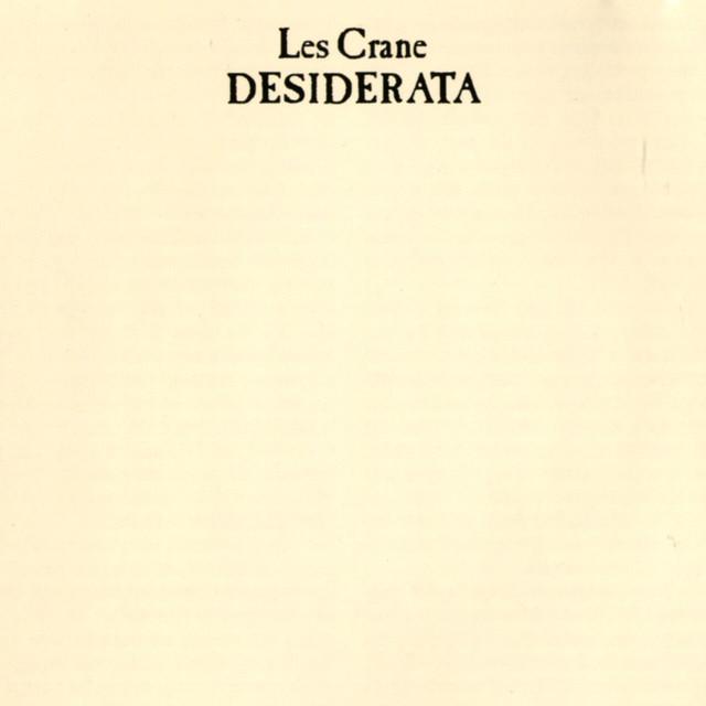 Les Crane Desiderata album cover