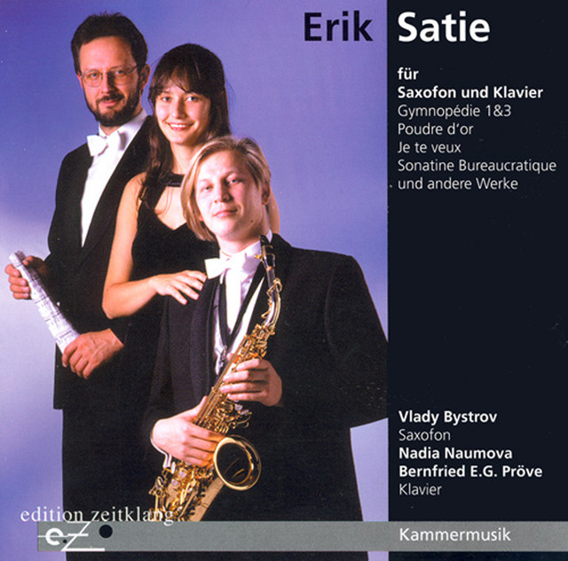 Satie: Works for Saxophone & Piano Albumcover