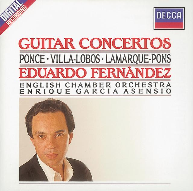 Ponce/Villa-Lobos/Lamarque-Pons: Guitar Concertos Albumcover