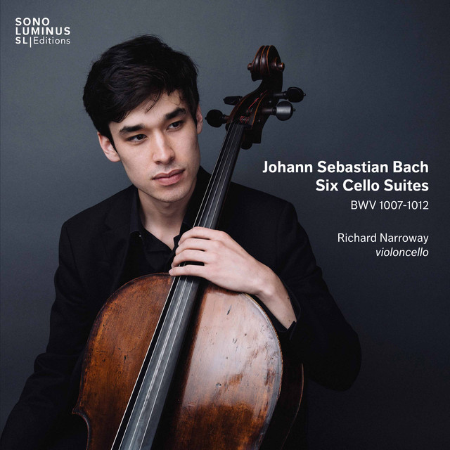Album cover for Bach: 6 Cello Suites, BWV 1007-1012 by Johann Sebastian Bach, Richard Narroway